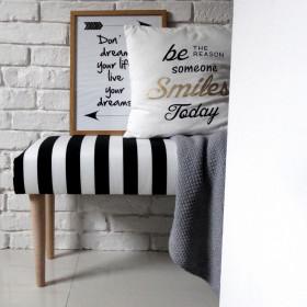 Ale ławeczka PASY ławka siedzisko do przedpokoju wzorzyste tapicerowane