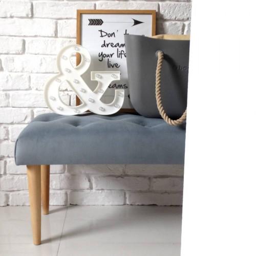 Ale ławeczka SZARA pikowana ławka siedzisko do przedpokoju  tapicerowane