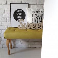 Ale ławeczka ŻÓŁTA pikowana ławka siedzisko do przedpokoju  tapicerowane