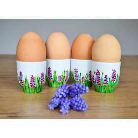 Zestaw 4 Kieliszków do jajek wiosenna łąka