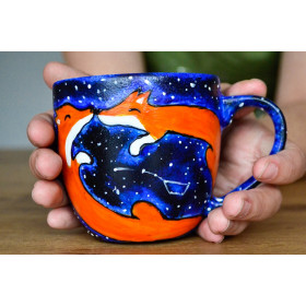 Porcelanowy Kubek gwiezdne lisy