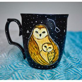 Porcelanowy Kubek sowa matka