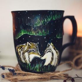 Porcelanowy Kubek wilki zorza