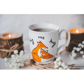 Porcelanowy Kubek ręcznie malowany - Hug me Hug