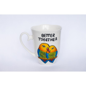 Porcelanowy Kubek papugi - Better Together
