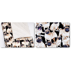 Wyjątkowy koc dla maluszka _ Bawełna + pikowany velvet _ MOPSY