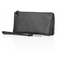 Czarny skórzany portfel Lou
