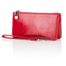 Czerwony skórzany portfel Lou