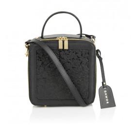 Skórzany czarny kuferek premium Silvia