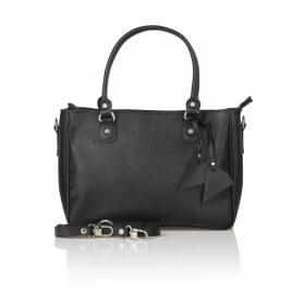 Klasyczna skórzana torebka czarna Margaret