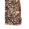 Skórzana torebka worek brąz kwiaty Myrcelle 3