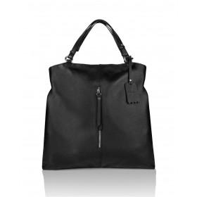Skórzana czarna torebka worek Myrcelle