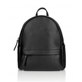 Skórzany czarny plecak Oliv