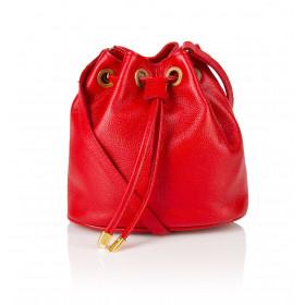 Skórzany czerwony woreczek Jovite