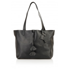 Skórzana torebka damska 2w1 Catherine czarna