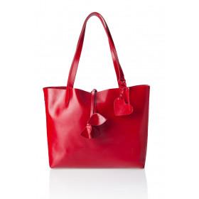 Skórzana torebka damska 2w1 Catherine czerwona