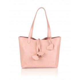 Skórzana torebka damska 2w1 Catherine różowa