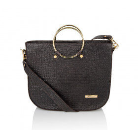 Elegancka skórzana brązowa torebka Bianca premium