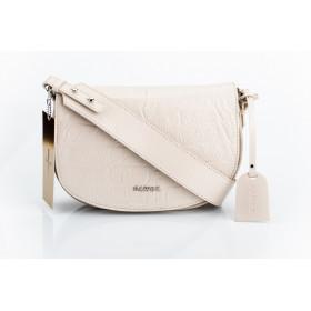 Skórzana beżowa torebka-nerka Fiona