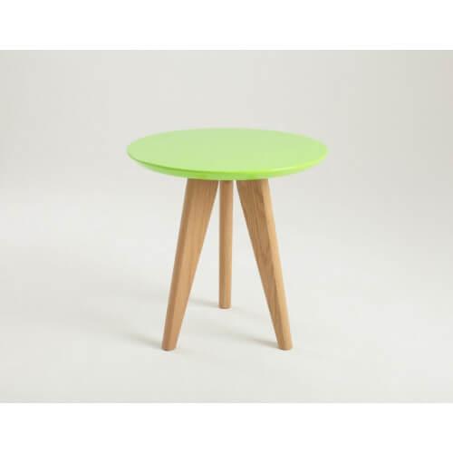 Stolik OSLO S - zielony, jesion 50x50 cm