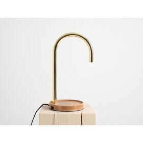 Lampa stołowa PIPER LED charge – mosiądz