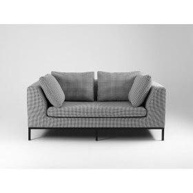 Sofa rozkładana 2 os. AMBIENT - ciemna pepita, czarny