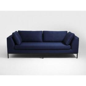 Sofa 3 os. AMBIENT - tkanina granatowa, nogi czarne