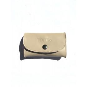 Skórzana portmonetka mini na zatrzask