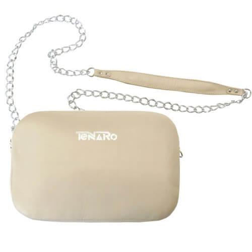 Skórzana torebka bransoletka beżowa