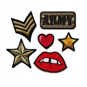 Zestaw naszywek Army
