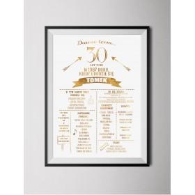 Personalizowany złoty plakat z okazji urodzin